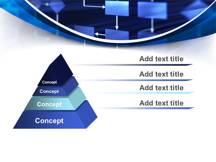 Flowchart in Three Dimensions PowerPoint Template Slide 12