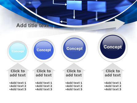 Flowchart in Three Dimensions PowerPoint Template Slide 13