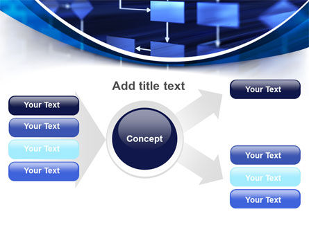Flowchart in Three Dimensions PowerPoint Template Slide 14