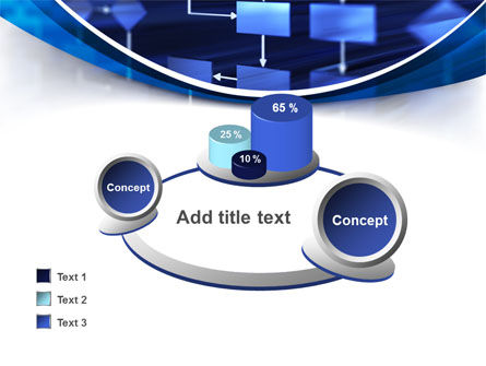 Flowchart in Three Dimensions PowerPoint Template Slide 16