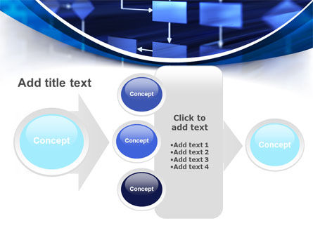 Flowchart in Three Dimensions PowerPoint Template Slide 17