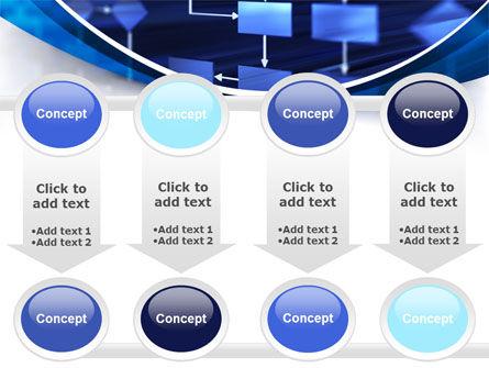 Flowchart in Three Dimensions PowerPoint Template Slide 18