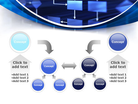 Flowchart in Three Dimensions PowerPoint Template Slide 19