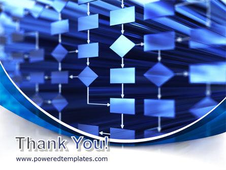 Flowchart in Three Dimensions PowerPoint Template Slide 20