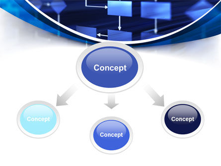 Flowchart in Three Dimensions PowerPoint Template Slide 4