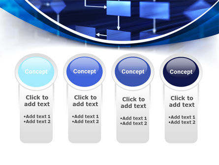 Flowchart in Three Dimensions PowerPoint Template Slide 5