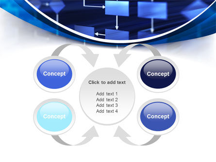 Flowchart in Three Dimensions PowerPoint Template Slide 6