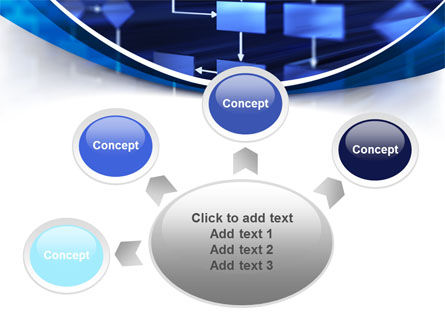 Flowchart in Three Dimensions PowerPoint Template Slide 7