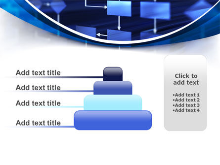 Flowchart in Three Dimensions PowerPoint Template Slide 8