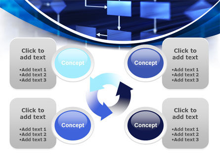 Flowchart in Three Dimensions PowerPoint Template Slide 9
