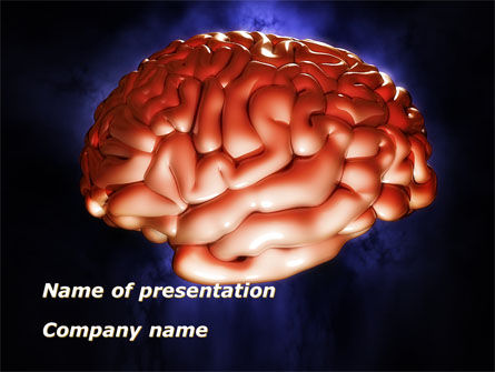 Human Brain in Three Dimensions PowerPoint Template, 09223, Medical — PoweredTemplate.com
