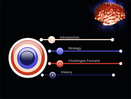 Human Brain in Three Dimensions PowerPoint Template, Slide 3, 09223, Medical — PoweredTemplate.com