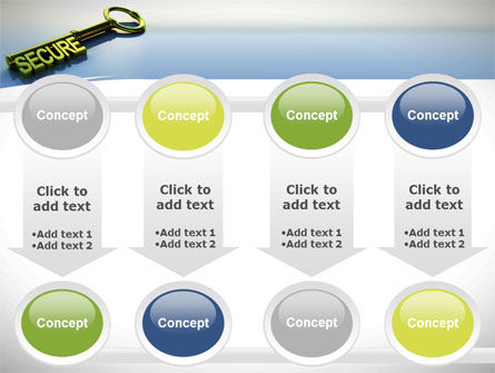 Secure Key PowerPoint Template Slide 18