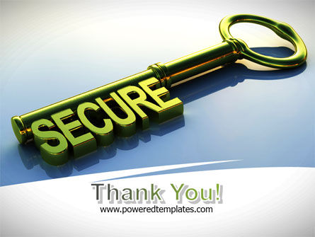 Secure Key PowerPoint Template Slide 20