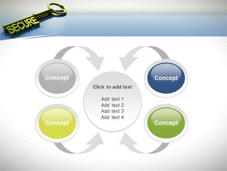 Secure Key PowerPoint Template Slide 6