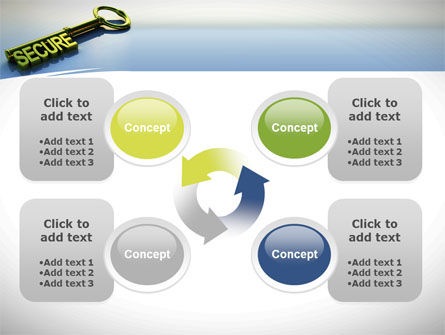 Secure Key PowerPoint Template Slide 9
