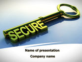 Construction: Secure Key PowerPoint Template #09224