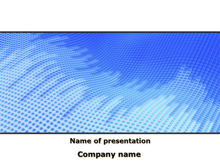 Abstract Blue Ribbon PowerPoint Template, 09225, Abstract/Textures — PoweredTemplate.com