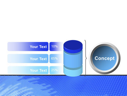 Abstract Blue Ribbon PowerPoint Template Slide 11