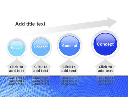 Abstract Blue Ribbon PowerPoint Template Slide 13