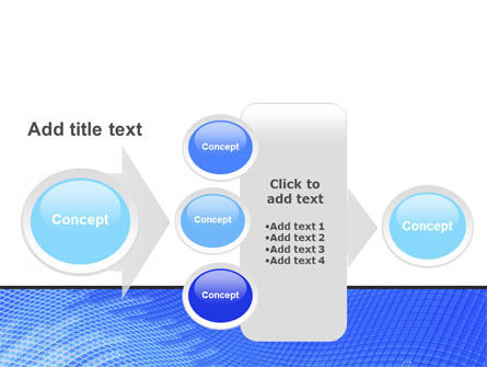 Abstract Blue Ribbon PowerPoint Template Slide 17