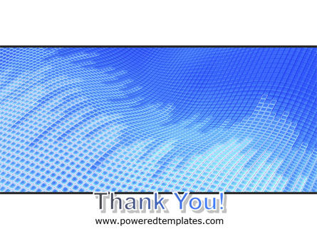 Abstract Blue Ribbon PowerPoint Template Slide 20