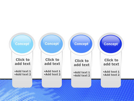 Abstract Blue Ribbon PowerPoint Template Slide 5