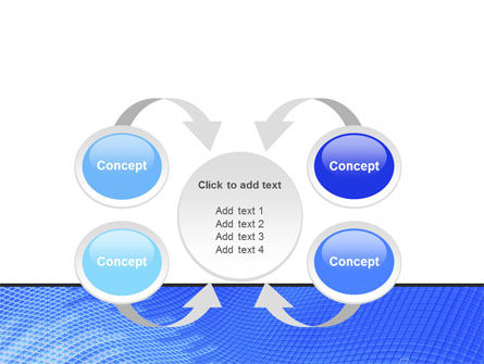 Abstract Blue Ribbon PowerPoint Template Slide 6
