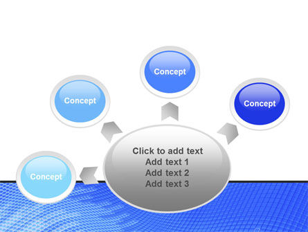 Abstract Blue Ribbon PowerPoint Template Slide 7