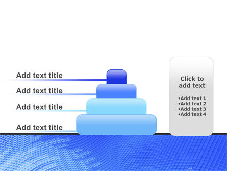 Abstract Blue Ribbon PowerPoint Template Slide 8