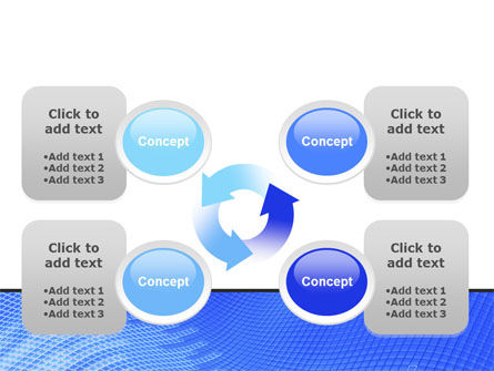 Abstract Blue Ribbon PowerPoint Template Slide 9