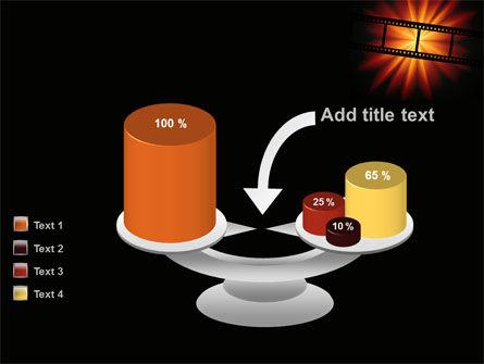 Film Strip In Dark Red-Yellow Colors PowerPoint Template Slide 10
