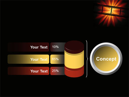 Film Strip In Dark Red-Yellow Colors PowerPoint Template Slide 11