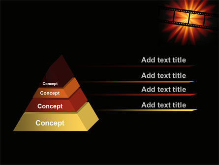 Film Strip In Dark Red-Yellow Colors PowerPoint Template Slide 12