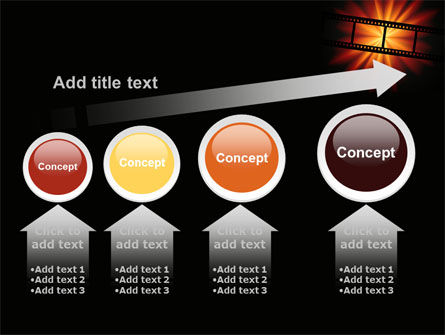 Film Strip In Dark Red-Yellow Colors PowerPoint Template Slide 13