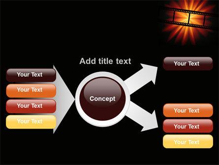 Film Strip In Dark Red-Yellow Colors PowerPoint Template Slide 14