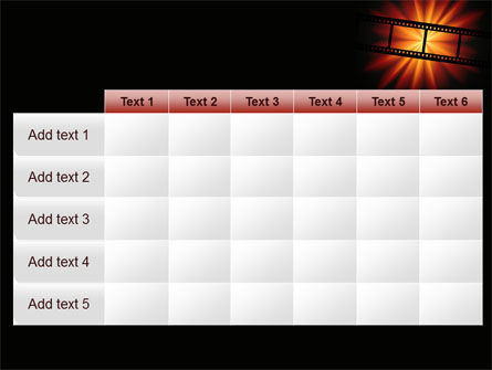 Film Strip In Dark Red-Yellow Colors PowerPoint Template Slide 15