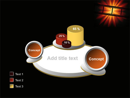 Film Strip In Dark Red-Yellow Colors PowerPoint Template Slide 16