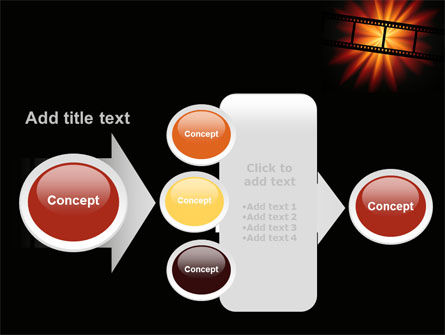 Film Strip In Dark Red-Yellow Colors PowerPoint Template Slide 17