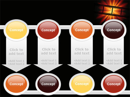Film Strip In Dark Red-Yellow Colors PowerPoint Template Slide 18