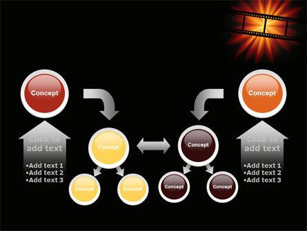 Film Strip In Dark Red-Yellow Colors PowerPoint Template Slide 19