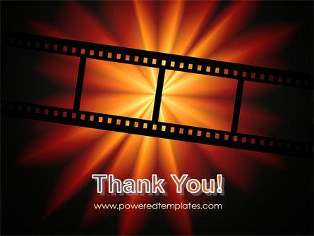 Film Strip In Dark Red-Yellow Colors PowerPoint Template Slide 20