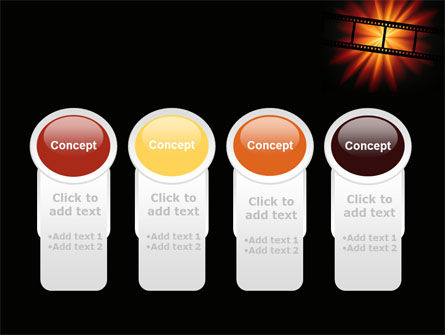 Film Strip In Dark Red-Yellow Colors PowerPoint Template Slide 5