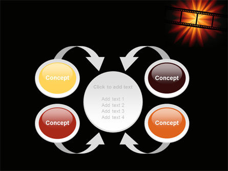 Film Strip In Dark Red-Yellow Colors PowerPoint Template Slide 6