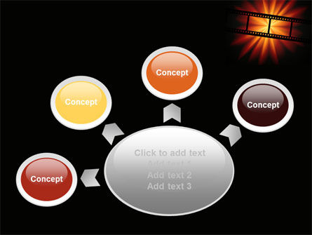 Film Strip In Dark Red-Yellow Colors PowerPoint Template Slide 7