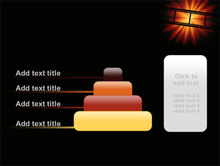 Film Strip In Dark Red-Yellow Colors PowerPoint Template Slide 8