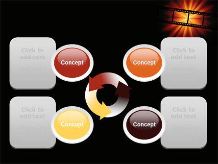 Film Strip In Dark Red-Yellow Colors PowerPoint Template Slide 9