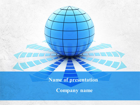World Directions PowerPoint Template, 09228, Global — PoweredTemplate.com