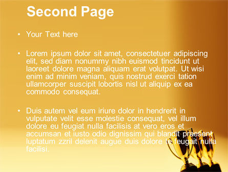 Winner Goblets PowerPoint Template Slide 2
