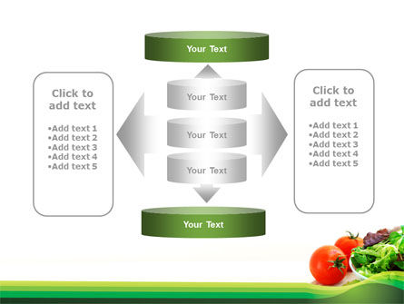 Salad with Tomatoes PowerPoint Template Slide 13